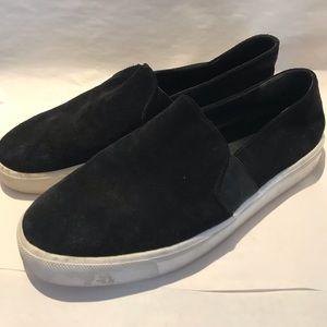 Black Suede Slip Ons